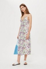 Topshop Field Fest Frill Slip Dress | ruffled trimmed floral print dresses