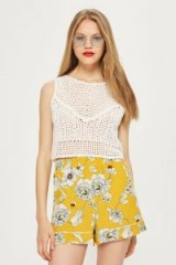 Topshop Yellow Floral Pyjama Shorts
