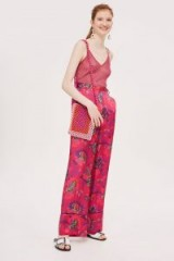 Topshop Floral Wide Leg Trousers   bold flower prints
