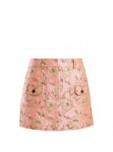 PRADA Floral-brocade mini skirt | luxe pink & gold skirts