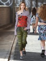 MARQUES'ALMEIDA Floral-brocade satin bodice / corset style strapless tops