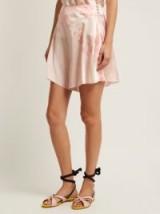 HILLIER BARTLEY Floral-print silk shorts ~ pink silky floral shorts
