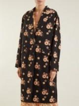 MIU MIU Floral-print wool coat / flower prints