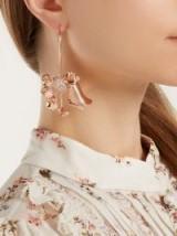 RYAN STORER Flores Muertas rose gold-plated single earring ~ floral single statement drop earrings