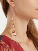RYAN STORER Flores Muertas rose gold-plated single earring ~ floral statement jewellery ~ petals
