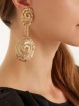 ORIT ELHANATI Four gold-plated single spiral earring ~ statement jewellery