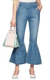 FRAME Flounce Side-Zip Flared Jeans ~ extreme denim flares