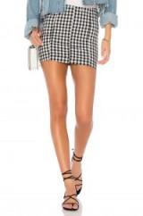 Free People MODERN FEMME NOVELTY SKIRT / check print mini skirts