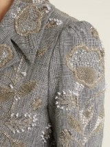 ERDEM Galice bead-embellished checked linen jacket ~ beautiful beaded jackets