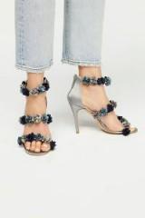Charles David Garden Party Heel / blue floral heels