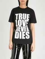 GARETH PUGH True Love print cotton-jersey T-shirt / black slogan t-shirts