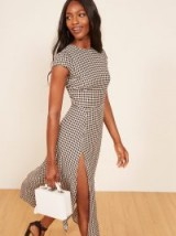 REFORMATION Gavin Dress Checkers / check print open back dresses
