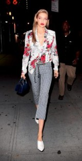 Gigi Hadid street style ~ cool mixed prints