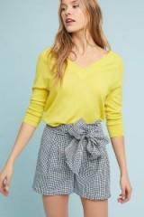 Cartonnier Gingham Tie-Waist Shorts   pretty check print shorts