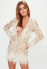 Missguided gold embellished dress ~ luxe going out dresses