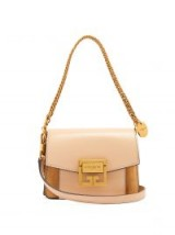 GIVENCHY GV3 mini suede and leather cross-body bag ~ small luxe handbags