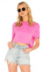 Hanes x Karla X REVOLVE THE NEON CROP TEE Neon Pink | bright cropped T-shirts
