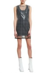 Helmut Lang CELLOPHANE PLAID SHELL DRESS – semi sheer dresses