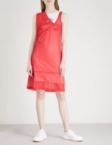 HELMUT LANG Re-Edition Diamond Head sports mesh and cotton dress ~ sporty red dresses