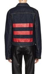 HELMUT LANG Striped Denim Jacket ~ dark blue jackets ~ red stripes