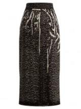 PRADA Herringbone-print denim pencil skirt | printed skirts