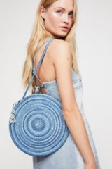 Hey Blue Woven Tote | round summer bags