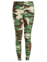 JUNYA WATANABE High-rise camouflage-print jersey leggings / camo prints