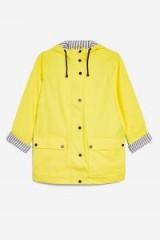 TOPSHOP Hooded Rain Mac ~ yellow waterproof jackets
