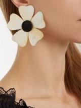 REBECCA DE RAVENEL Iris clip-on earrings ~ summer vacation flower earrings ~ statement jewellery