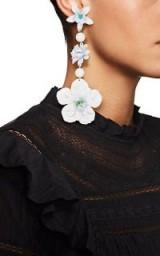 ISABEL MARANT Floral Triple-Drop Earrings ~ extreme statement flower jewellery