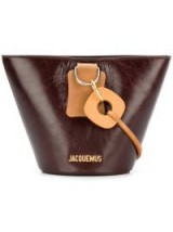 JACQUEMUS logo bucket bag / small brown leather crossbody