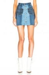 JEAN ATELIER Eloise Skirt / patchwork denim mini skirts