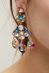 ANTHROPOLOGIE Jewelled Chandelier Earrings | pretty statement jewellery