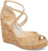 JIMMY CHOO Alanah Espadrille Wedge Sandal | front cross strap wedges