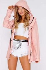 KADIAN BABY PINK MATTE RAIN MAC ~ waterproof jackets