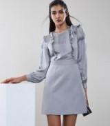 REISS KARTER RUFFLE DETAIL DRESS SILVER LAKE ~ ruffled party dresses