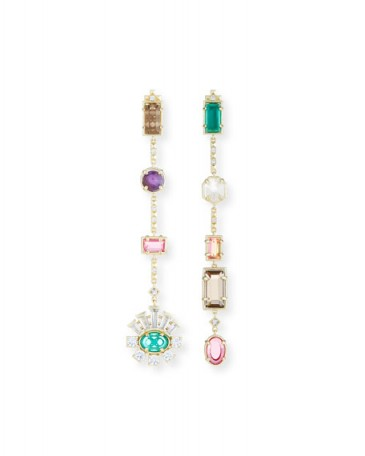 Kendra Scott Muzzie Mixed Drop Earrings ~ beautiful miss match statement earrings ~ mismatched jewelry