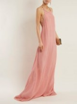 ON THE ISLAND Komimi halter-neck maxi dress ~ long pink halterneck dresses