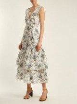 BROCK COLLECTION Lace-detail floral-print dress / luxury tiered dresses / summer occasions