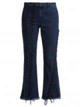 MARQUES'ALMEIDA Lace-up cropped jeans ~ frayed denim