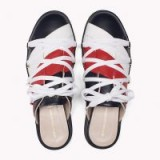 HILFIGER COLLECTION LACE-UP SLIP-ON SNEAKER | backless sneakers