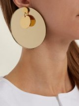 JIL SANDER Large-disc earrings ~ round statement jewellery