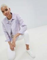Levi's Line 8 Unisex Trucker Jacket with Raw Hem ~ lilac jackets