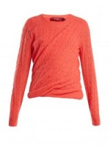 SIES MARJAN Libbie cable-knit cashmere sweater | ruched jumpers