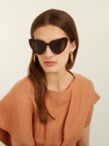 SAINT LAURENT Loulou heart-shaped acetate sunglasses ~ dark-red summer eyewear ~ vacation glamour