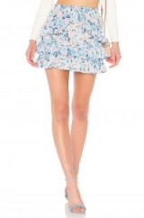 Lovers + Friends JANA SKIRT Meadow Floral | ruffled floral mini skirts