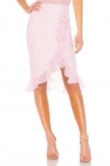 Lovers + Friends SUFFOLK SKIRT Lipstick Dot | asymmetric ruffle skirts