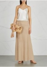 M MISSONI Gold textured-knit skirt ~ long metallic knitted skirts