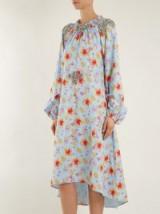 DODO BAR OR Marisa floral-print crystal-embellished dress / elegant ruched neckline dresses