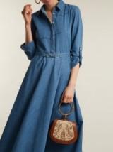 GABRIELA HEARST Marley point-collar denim dress ~ effortless style